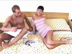 Sarah wears a strap on to fuck lovers hungry asshole in femdom session