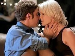 Pretty blonde Zoey Paige sucking dick & making love