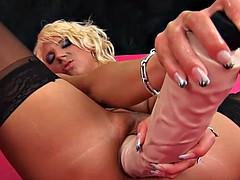 Blonde loves big dick