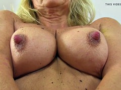 British gilf Dolly fingers her alluring arse