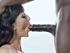 Sofia proves that she can finish off a stiff black cock