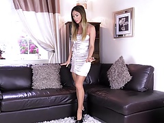 shiny dress pantyhose gold nails