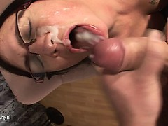 Mature mom josee gets a mouth full Wynona from 1fuckdatecom