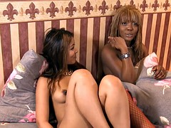 ebony and Indonesian bff's having fun together