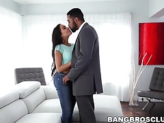 Gorgeous brunette Lela Star patiently waits for a creampie