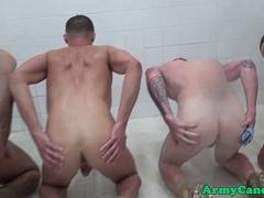 Gay rookie soldiers ass drilled in platoon