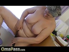 OmaPasS Horny Amateur Granny Fucking Vegetable