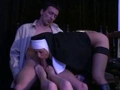 Nun footjob & fellatio