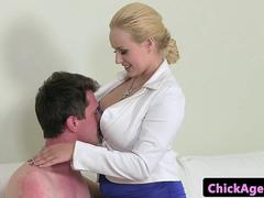 Casting agent rides clients cock in office