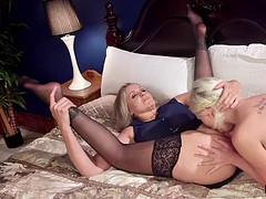 Femdom anal strap on fucking in bondage
