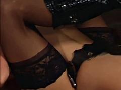 BDSM slave girl gets used to her dildo