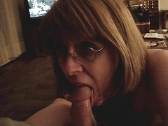 Mrs. Commish Gives blowjob Phallus In Glass