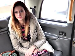 Babe In Lingerie Fucks Fake Taxi Driver