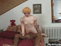 Mom Catch Her Daughter Hubby Getting down and dirty Rubber Doll