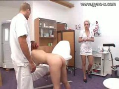 Gyno Exam Of Milky Broad By Docto