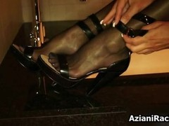 Sexy high heels and also stockings taken off part4