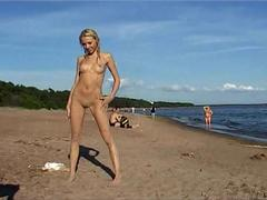 Nudist with her vulva hanging out real nudist video