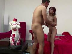 Redhead cutie gets creamed after a hard fuck in bed