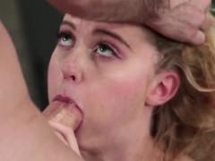 Blonde high school slut fucked rough by a history teacher