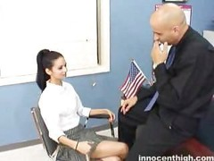 The adorable Marissa rubs a purple pole and also later gets a facial