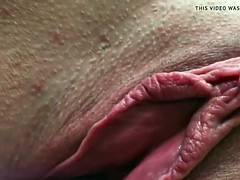 Amateur Wife Beautiful Pussy Open Gape Big Labia Clit Cum
