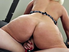 Brutal strong milf with strap on