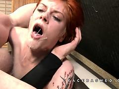 Ava Little extreme piledriver face fuck