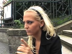 Public fucking session with a naughty blonde