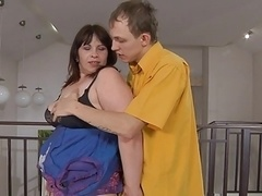 Russian BBW-Granny anal by young Lad