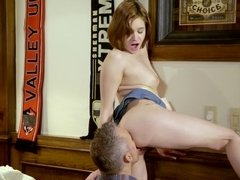 Older man makes her young wet pussy feel so good