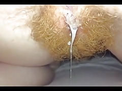 Ginger pubes and a fresh creampie for you to eat