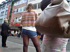 Enthousiasteling, Duits, Tiener, Onder de rok, Bekijker