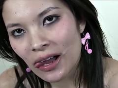 PUTA LOCURA Busty Asian Amateur Bukkake