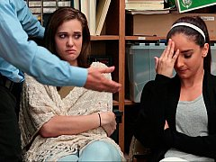 Минет, Две девушки, Группа, В офисе, Полиция, Наказание, Украденные видео, Втроем