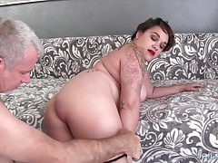 Chubby newbie fucks and cum in the mouth