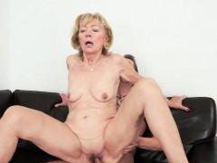 European granny loves younger cock