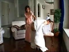 Kleid, Hintern versohlen, Hochzeit