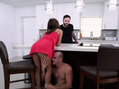 Hot Latina Mia Martinez fucks big cock in the kitchen