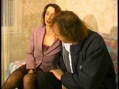 aged shaggy wife  gets fucked by aged dude at the farm