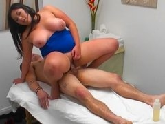 Fat Asian masseuse gives her client everything he needs