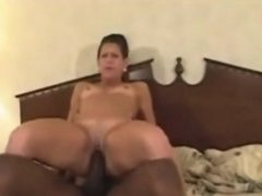 Attractive brunette trips and milf hurts a black penis that