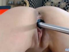 Babe pounded by machine