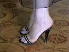 My Nude and furthermore in Stockings long blue Toes!!!!!