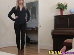 Clothed amateur frottaged