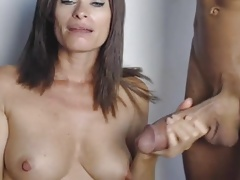 Milf Trying to Suck a Incredibly Huge Cock