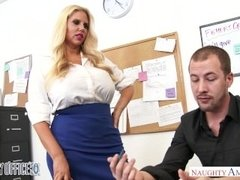 Big tits blonde Karen Fisher bangs her office co-worker - Naughty America