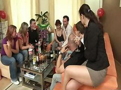 Petite Group sex In The Flat