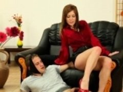 Cummy fetish slut pissing