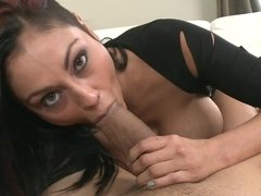 Exotic brunette porn star Priya Rai just wants to suck a big dick