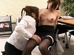 Two fascinating Japanese girls explore their torrid lesbian